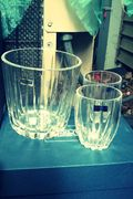 Waterford Marquis Crystal Ice Bucket & 2 D.O.Fs