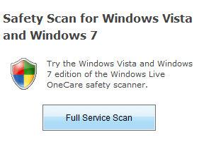 Windows live OneCare