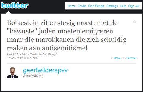 Wilders stooge
